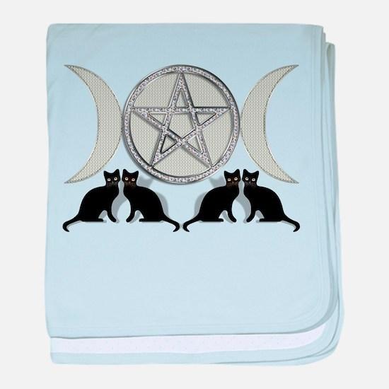 Silver Diamond Pentagram baby blanket