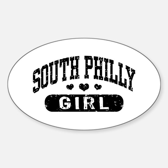 South Philly Girl Sticker (Oval)