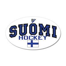 Finland Suomi Hockey Leijonat 22x14 Oval Wall Peel
