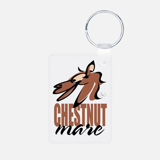 Chestnut mare photo keychain