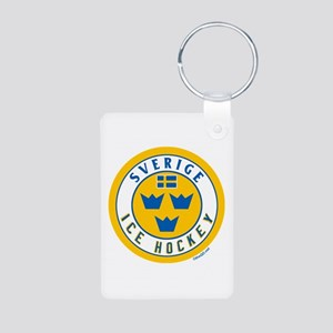 SE Sweden/Sverige Hockey Aluminum Photo Keychain