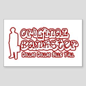 Original Bankster Sticker (Rectangle 10 pk)