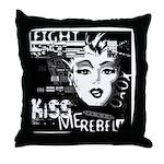 Kiss Me Rebel Throw Pillow