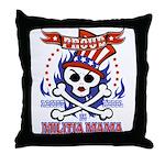 Militia Mama Throw Pillow