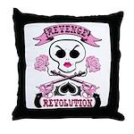 Girly Revenge anf Revolution Throw Pillow