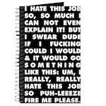 Super Disgruntled Working Journal