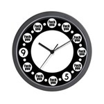 Insulting 9 to 5 Wall Clock