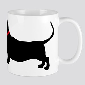 Christmas or Holiday Basset Hound Silhouette Mug