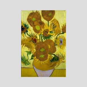 Van Gogh - 15 Sunflowers Rectangle Magnet