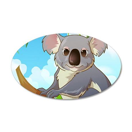 AW! Adopt A Koala! 22x14 Oval Wall Peel