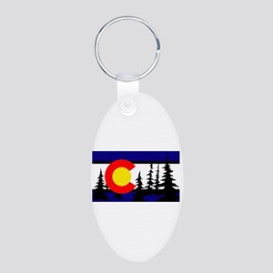 Colorado Aluminum Oval Keychain