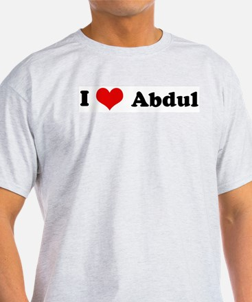 I Love Abdul Ash Grey T-Shirt