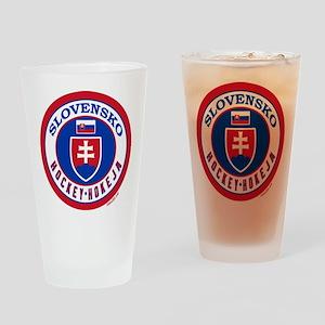 SK Slovakia/Slovensko Hockey Drinking Glass