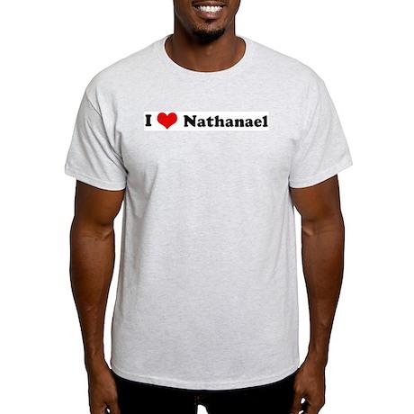I Love Nathanael Ash Grey T-Shirt