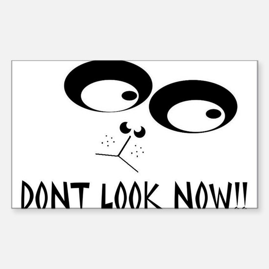 dont look now Sticker (Rectangle)