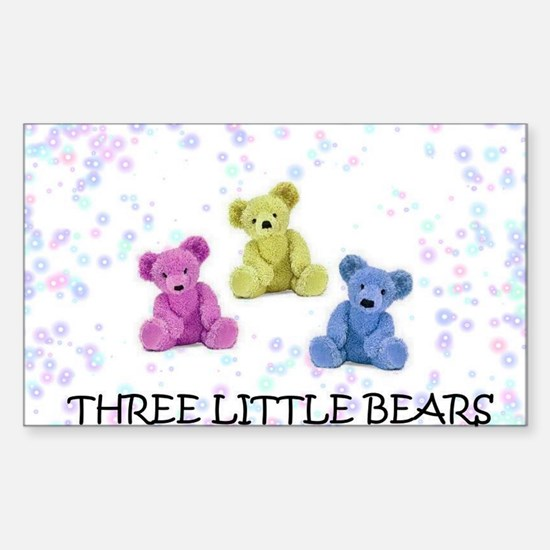 three little bears Sticker (Rectangle)
