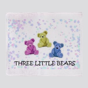 three little bears Throw Blanket