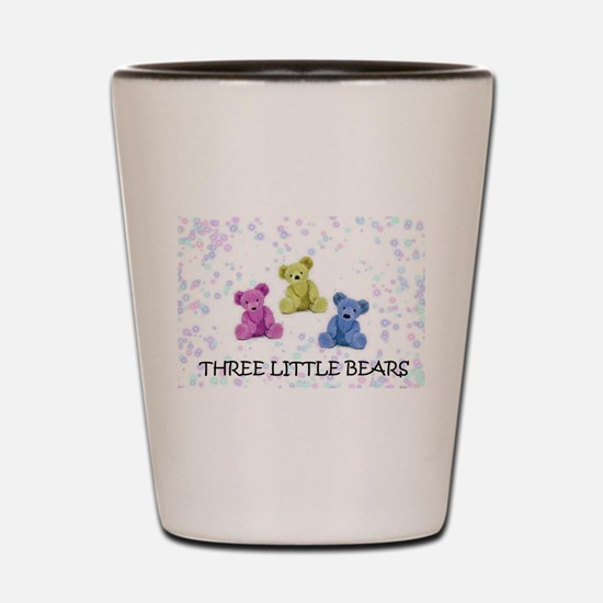 three little bears Shot Glass