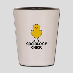 Sociology Chick Shot Glass