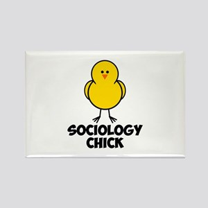 Sociology Chick Rectangle Magnet
