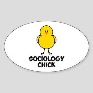 Sociology Chick Sticker (Oval)