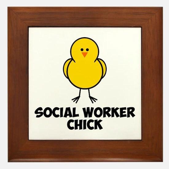 Social Worker Chick Framed Tile