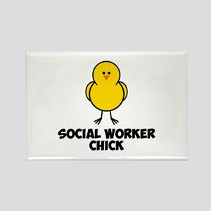 Social Worker Chick Rectangle Magnet