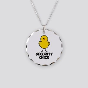 Security Chick Necklace Circle Charm