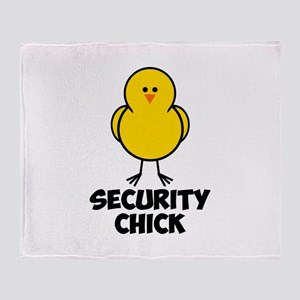 Security Chick Throw Blanket