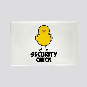 Security Chick Rectangle Magnet