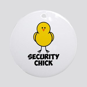 Security Chick Ornament (Round)
