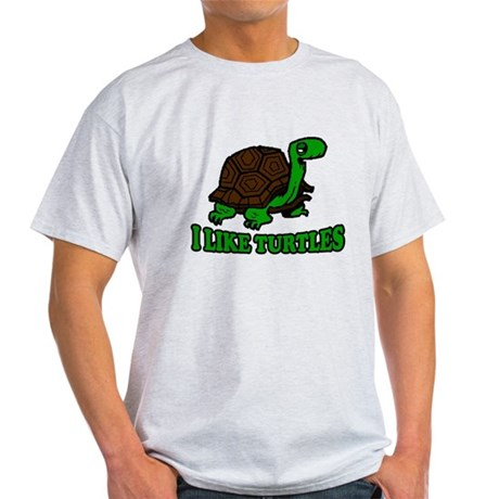 I Like Turtles Light T-Shirt