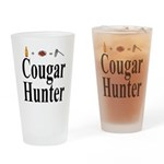Cougar Hunter Drinking Glass