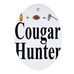 Cougar Hunter Ornament (Oval)