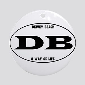 Dewey Beach Euro Ornament (Round)
