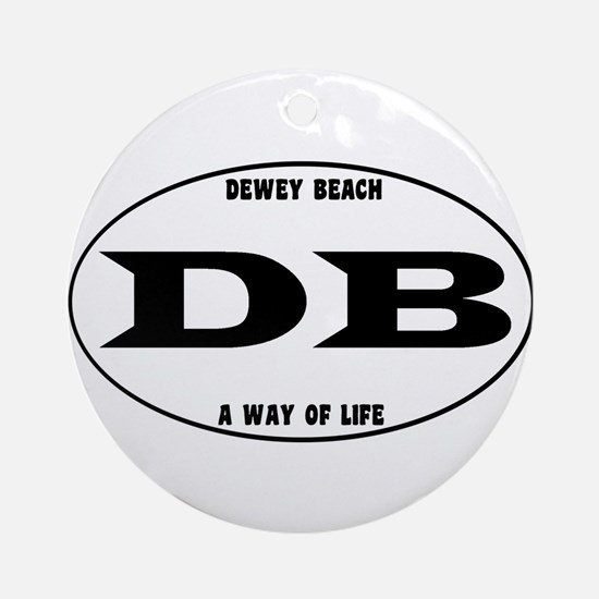Dewey Beach Euro Ornament (Round)