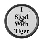 I Slept With Tiger Large Wall Clock