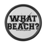What Beach? Large Wall Clock