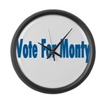 Vote For Monty Large Wall Clock