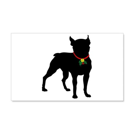 Christmas or Holiday Boston Terrier Silhouette 22x