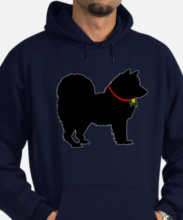 Christmas or Holiday Chow Chow Silhouette Hoodie