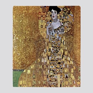 Adele Gustav Klimt Throw Blanket
