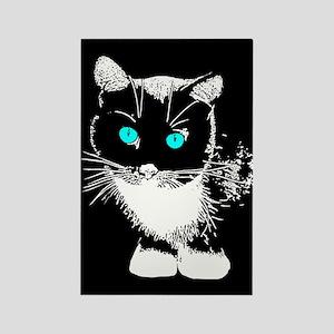 Blue Eyed Cat Rectangle Magnet