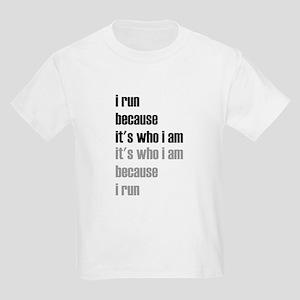 iRunBecause_ItsWhoIam_Light_Repeat_BlcGy T-Shirt
