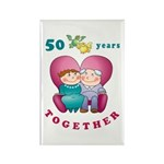 Happy Couple Rectangle Magnet (10 pack)