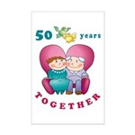 Happy Couple Mini Poster Print