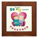 Happy Couple Framed Tile