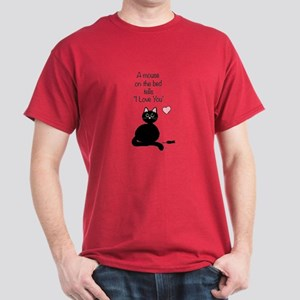A Mouse on the Bed Dark T-Shirt