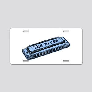 The Blues Harp Aluminum License Plate