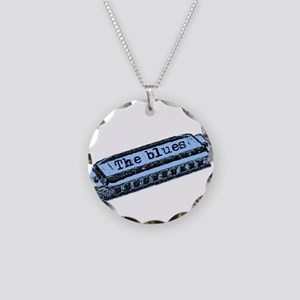 The Blues Harp Necklace Circle Charm